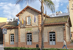 Former train station of Fuengirola, currently ...