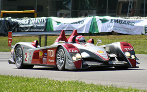 An Audi R10 TDI (driven by Marco Werner)
