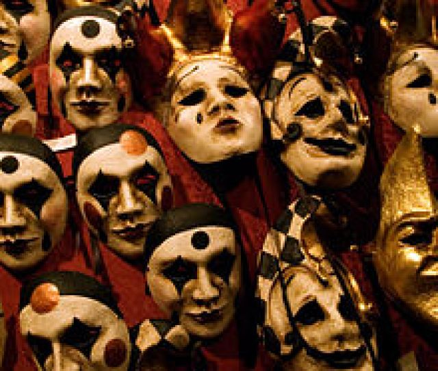 A Selection Of Venetian Carnival Masks