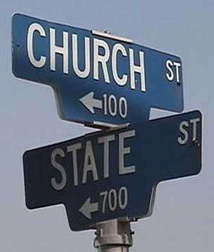 English: Church versus State