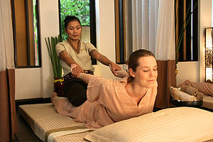 The Thai massage is primarily based on an acup...