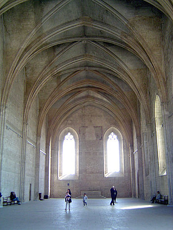 The Grand Chapel, where the Avignon popes wors...