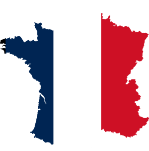 Silhouet France with Flag