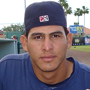 Photograph of baseball player Wilson Ramos.