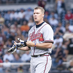Chipper Jones of the Atlanta Braves