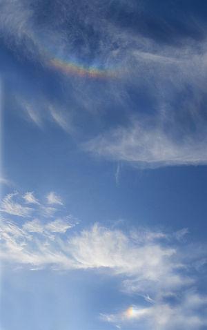 English: Circumzenithal arc and sundog over Ci...