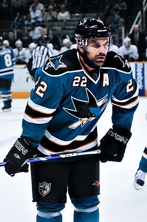 English: Dan Boyle of San Jose Sharks