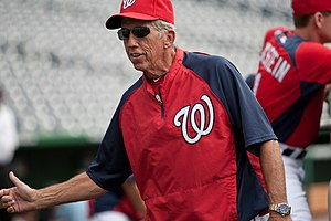 English: Washington Nationals manager in 2011.
