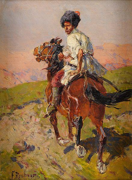 File:Franz Roubaud Kosake zu Pferd.jpg