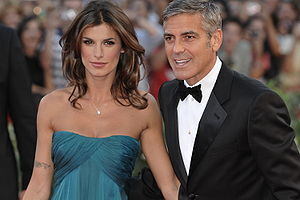George Clooney and Elisabetta Canalis at the 6...