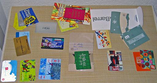 Gift card assortment