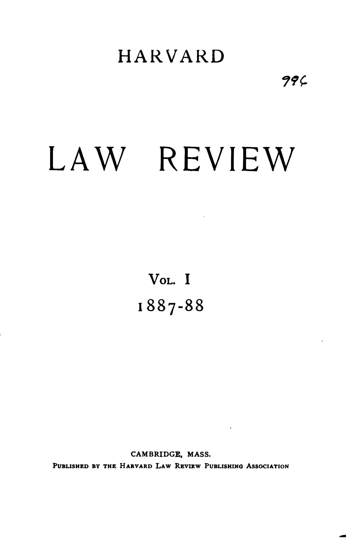 Harvard Law Review Wikipedia
