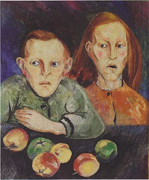 Hungry Children from Vienna - Oil on canvas - ...