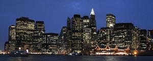 English: Lower Manhattan at late dusk.