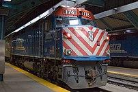 Metra train at Ogilvie Transportation Center
