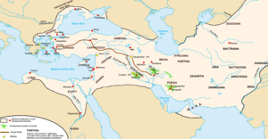 The Achaemenid empire at its greatest extent, ...