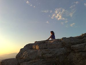 Neopagan meditation in Rocca di Cerere (Enna)