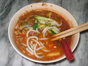 Photo taken by MichaelJLowe of a Penang laksa ...