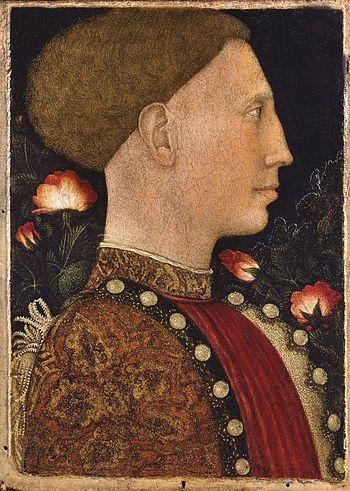 Leonello D'Este portrayed by Pisanello.