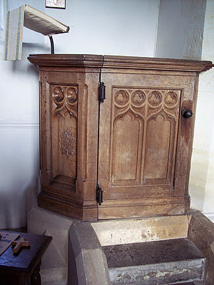English: Pulpit at St Nicholas of Mira Church ...