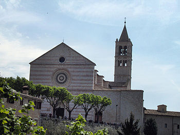 General view on the Basilica of St. Clare, Ass...