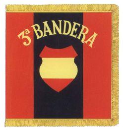 250e Division d'Infanterie Division Azul - Drapeau du 3e bataillon de la Division bleue