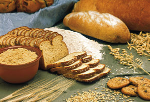 Oats, barley, and some food products made from...