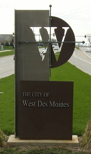 West Des Moines, Iowa, welcome sign