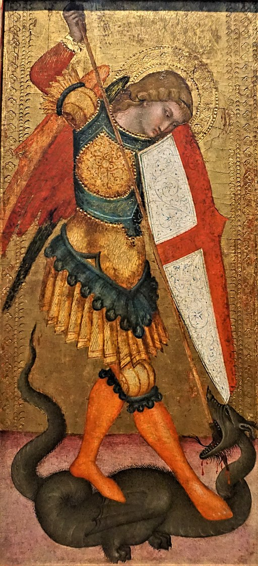 """""""Saint Michael and the Dragon"""" by the Sienese School"""