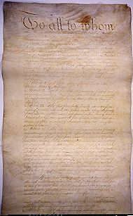 Page I of the Articles of Confederation