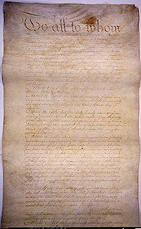 Trang thứ nhất của Các điều khoản Hợp bang