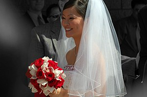 Hull Tran of Vietnamese descent on her wedding...