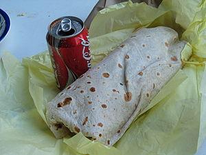 Burrito and Coke
