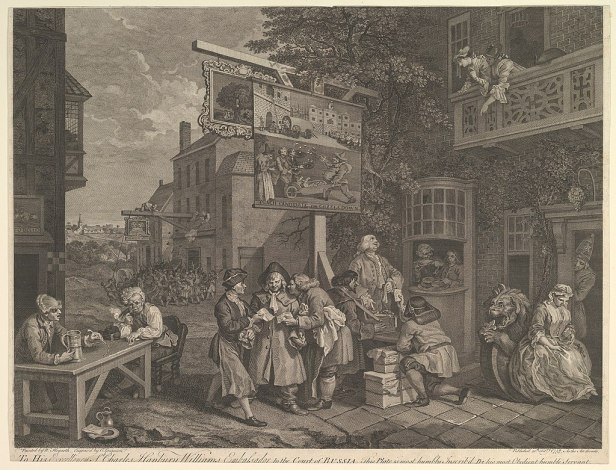 Canvassing for Votes, Plate II- Four Prints of an Election MET DP827056