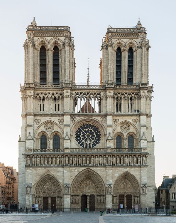 West Facade Of Notre-dame De Paris - Wikimedia Commons