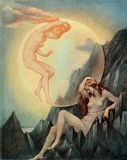 Evelyn de Morgan - The Sleeping Earth and Wakening Moon
