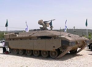 English: IDF Namer APC Français : Un véhicule ...