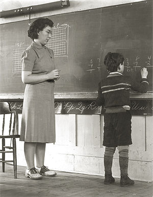 A new Landaff teacher in the 1940s watches as ...