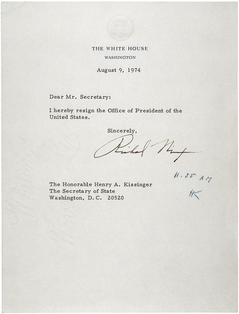 FileLetter Of Resignation Of Richard M Nixon 1974jpg Wikipedia