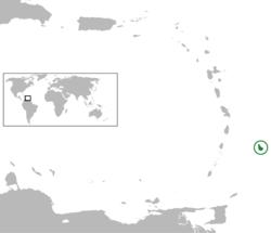 Vị trí của Barbados