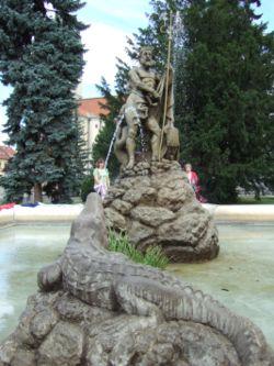 Neptune's fountain in Prešov, Slovakia