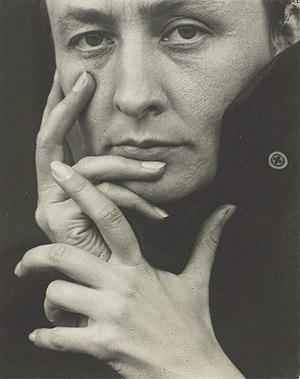 Photograph of Georgia O'Keeffe by Alfred Stieg...