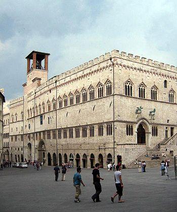 English: Palazzo dei Priori, Perugia, Umbria, ...