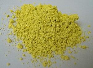 English: Pigment Yellow 53 Deutsch: Pigmentgelb 53