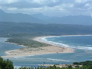 Plettenberg Bay from the West. South Africa.