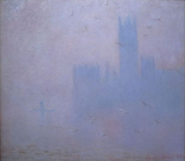 Seagulls, the Thames & Houses of Parliament by Claude Monet, Pushkin Museum
