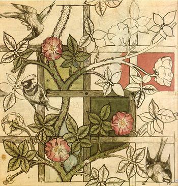 English: Original design for Trellis wallpaper...