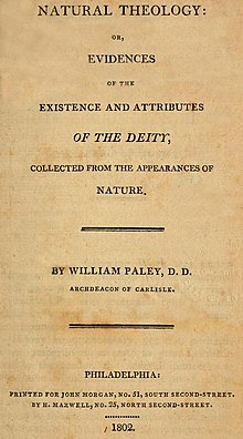 Natural Theology or Evidences of the Existence and