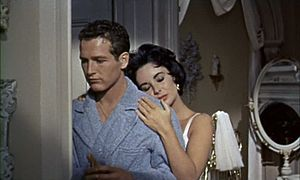 Screenshot of Elizabeth Taylor and Paul Newman...