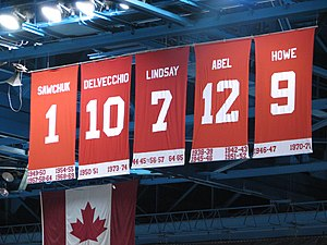 Retired numbers of the Detroit Red Wings in th...